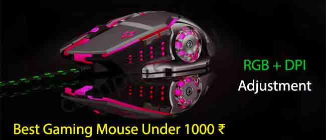 Best Gaming Mouse Under 1000 ₹ with RGB Lights