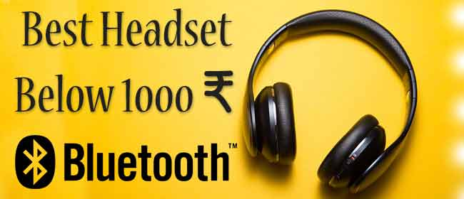 Best Wireless Headphone under 1000 Rs